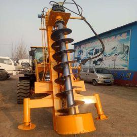 铲车改装电线杆打桩机20型30型35型液压式提升