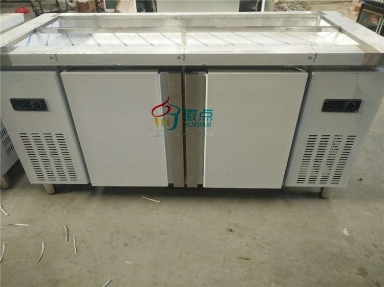 供應 臥式小菜冰箱,異形小菜展示櫃定製,開槽臥式冷藏櫃直銷