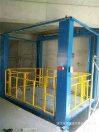 导轨式液压电动升降平台 工厂简易升降货梯