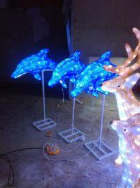 led海豚造型灯发光户外海豚动物景观灯厂家直销