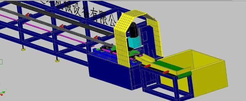 佛山龙迪玛钢管自动切管机生产线