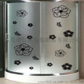 家具水贴纸 烫金低温玻璃门花纸 来图定制加工水转印贴纸