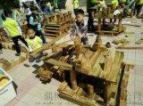 可凡炭燒積木玩具 兒童木質積木玩具