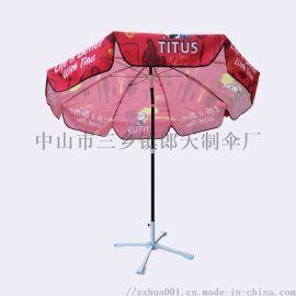 48寸5.0钢骨防风太阳伞 户外大型促销广告伞地摊太阳伞