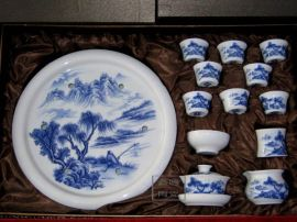 陶瓷青花功夫茶具 手工茶具价格