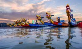 玻璃钢龙舟厂家 国际比赛龙舟竞赛木质龙舟厂家直销