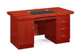 1418款1.4米油漆办公桌 胡桃木皮绿色环保家具