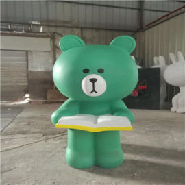 梅州玻璃钢卡通雕塑、玻璃钢卡通动物雕塑定制