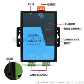 can open转工业以太网设备GCAN-202