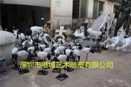 仿真动物雕塑 玻璃钢仙鹤雕塑工艺品