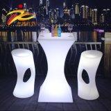 LED七彩发光酒吧台 高脚桌 滚塑塑胶防水高酒桌 发光家具