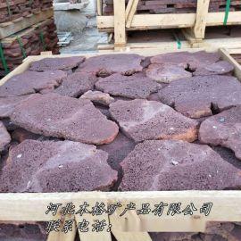 本格直供 火山岩乱拼 玄武岩板材 玄武岩铺路石