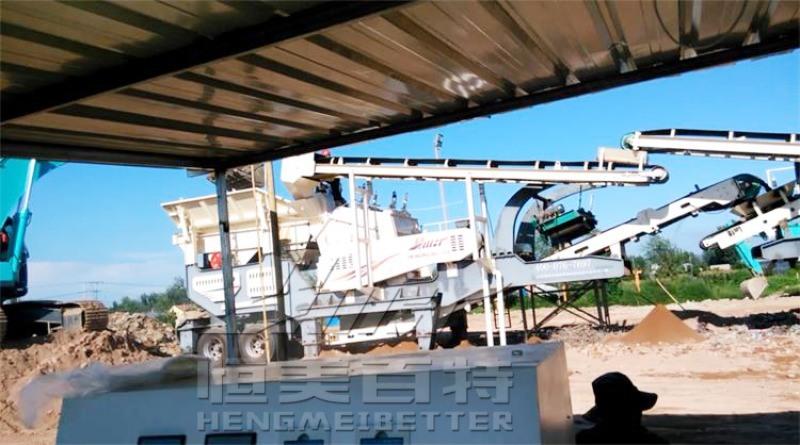 礦山移動碎石機 英杆石破碎機 建築垃圾破碎站廠家