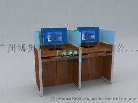广州博奥BRZE-4M考试专用屏风自动升降电脑桌