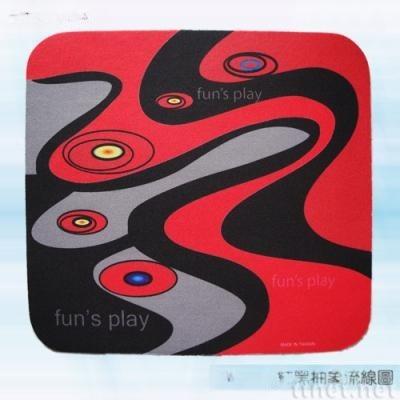 红黑抽象流缐图滑鼠垫(AW-016)