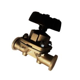316L不锈钢外喷砂内镜面抛光隔膜阀,双膜片耐高温耐腐蚀隔膜阀