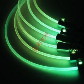 直徑5mm側光纖通體導光發光光纖塑料光纖影院臺階光纖線輪廓光纖