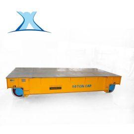 低压轨道供电平车道轨电动平板车 蓄电池搬运车