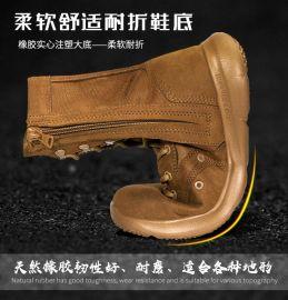 大码登山鞋防滑春夏季高帮户外山地徒步鞋男沙漠靴轻便透气战术靴