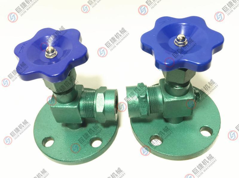 碳钢法兰考克玻璃管液位计 JX49W液位角阀水位计