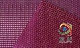 生产供应0.35mm厚,500*500DPVC彩色透明夹网布