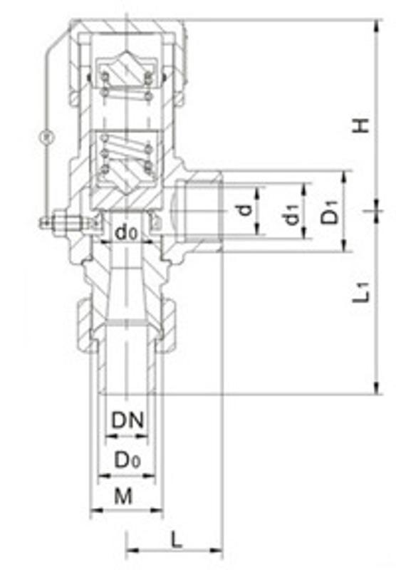 A21H微启式安全阀-大田阀门