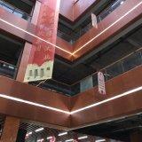 佛山万达中庭木纹铝单板 檐边包柱铝单板仿木纹