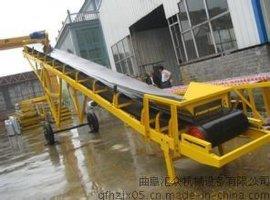 防破损带式输送机 定做600mm宽倾斜皮带机 装卸运输机