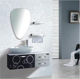 澳鲸厨卫1.1米台上艺术陶瓷盆不锈钢浴室柜