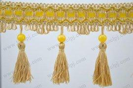 杭州淘金纺织 库存窗帘流苏花边 窗帘配件
