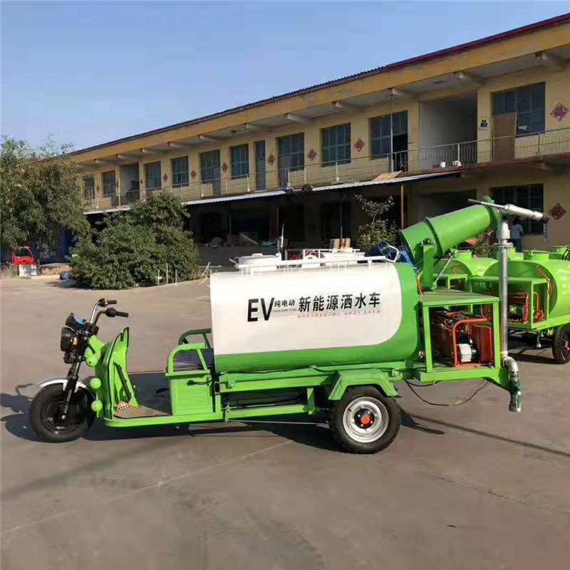 施工配套新能源雾炮洒水车,工地环保降尘洒水车