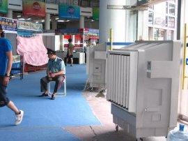 岗位通风降温 湿帘环保空调 蒸发式环保空调