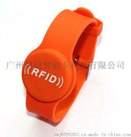 重庆硅胶手腕带 电子锁手牌 桑拿锁手牌 手表卡厂家