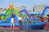 上海南匯大型移動水上樂園充氣水池游泳池釣魚池衝關設備廠家