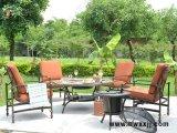 美式户外休闲桌椅,欧式烧烤桌椅组合,别墅庭院铁艺家具