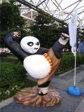 功夫熊猫 树脂功夫熊猫雕像 海南玻璃钢景观功夫熊猫雕塑