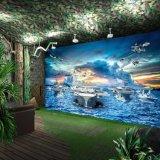 KTV主题墙布定制 餐厅背景3d迷彩壁画