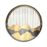 艺术水墨夹丝玻璃造型屏风 佛山专业山水玻璃造型隔断 十年制作
