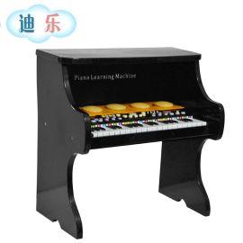 迪樂兒童木製樂器 音樂啓蒙寶寶小孩鋼琴 37鍵高檔木製玩具琴