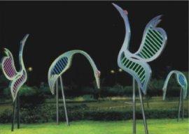 雕塑灯,陕西铜川印台区开元环艺仙鹤雕塑灯,公园景观小品雕塑灯
