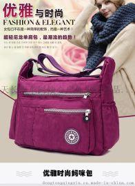 批发生产尼龙牛津布包帆布女士包包单肩斜挎包定制定做休闲大容量旅行包新款妈妈包