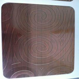 佛山304不锈钢铜板销售价格 高比304红古铜不锈钢拉丝装饰板