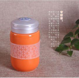 华晨陶瓷供应陶瓷杯养生杯烟灰缸定制礼品陶瓷