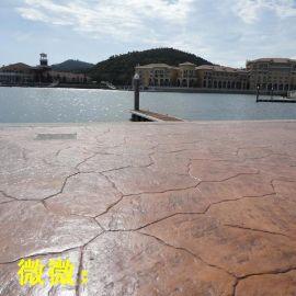 广场压模地坪仿石造型