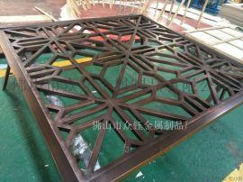 新中式不锈钢仿古铜屏风