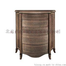 欧式实木家具/样板房床头柜/储物柜/实木定制家具