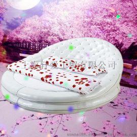上海轩爱主题酒店双人软包圆形电动床恒温水床