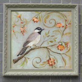 歐美裝飾畫 花鳥動物田園風景油畫批發 酒店配畫 客廳有框掛畫