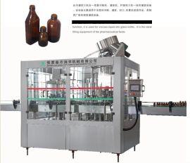 张家港市润宇机械玻璃瓶浓浆灌装机口服液18头