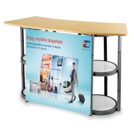 厂家直销铝合金促销台展示架折叠促销桌地推超市促销台咨询台广告